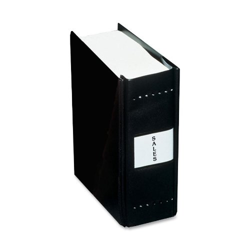 CHARLES LEONARD Varicap6 Expandable 1 To 6 Post Binder, 8-1/2 x 11, Black (Case of 4)