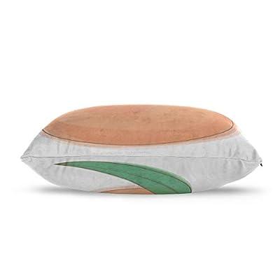 Yuejh Zippered Pillow Covers Colorful Food Eat Fruit Peach Cartoon 100% Cotton Reversible Zipper Standard Size (20