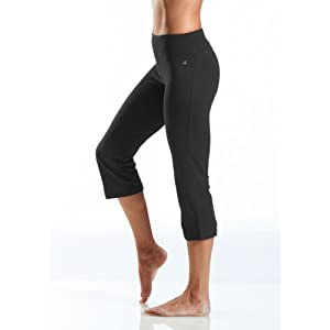 Jockey Women's Slim Capri Flare, Deep Black, Large