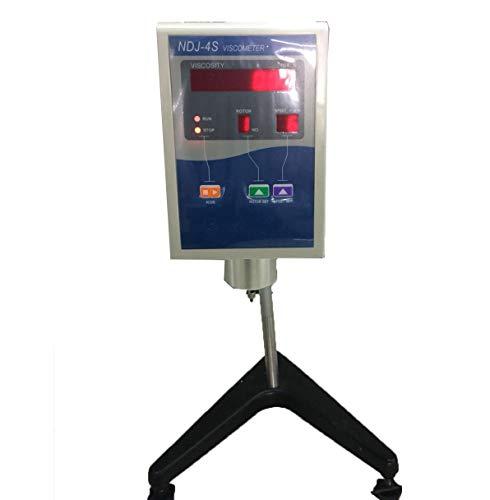 Digital Display Rotational Viscometer Viscosity Tester Meter with 4 Rotor Rotary Viscosity Measurement Range 1 to 2×1000000 mPa.s