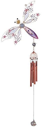 StealStreet SS-G-99293 Copper & Gem Dragonfly Garden Decoration Hanging Decor Wind Chime