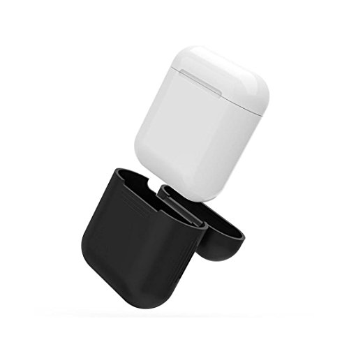 AirPod Skins, Charging Case & Straps Bundle - Stylish and Protective Wraps and Cover (Matte Black) Photo #3