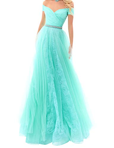 Bess Red Evening Shoulder Off Women's Dress Prom Formal Beaded Bridal Lace Party qw1Frq