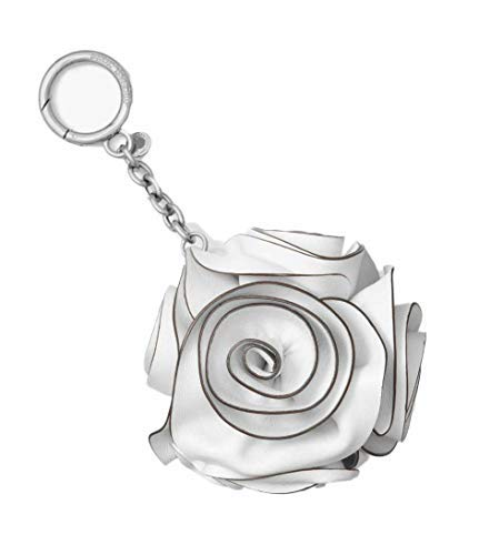 Michael Michael Kors Women`s Origami Rose Metallic Leather Key Chain (One Size, White(6496))
