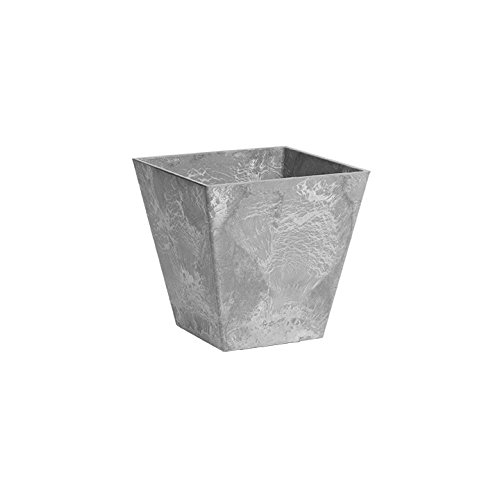 ArtStone 35080 Ella Square Planter, 8-Inch, Grey ()