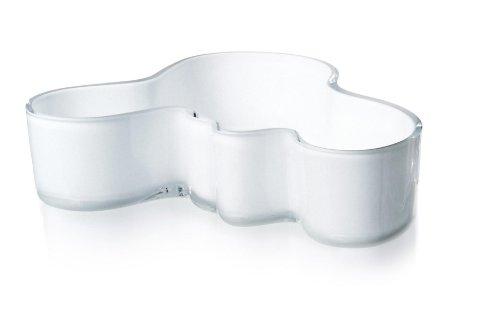 - Iittala Alvar Aalto Bowl, White, 7-1/2 by 2-Inch