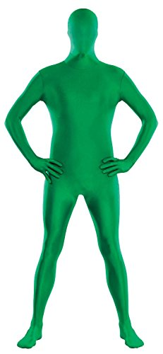 Amscan Teen Party Skin Suit Halloween Costume (Green, Medium) -