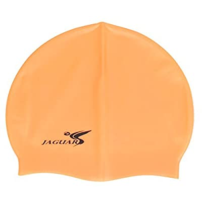Silicone Dome Adulte élastique Swim Natation Surf Cap Maillots d'Orange