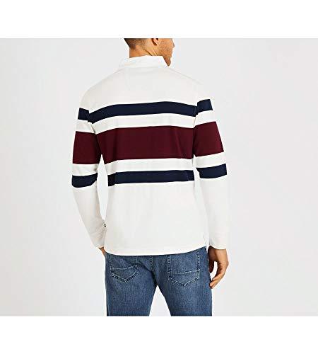 978c53a7 Nautica Men's Striped Heavy Weight Jersey Long Sleeve Polo Shirt ...