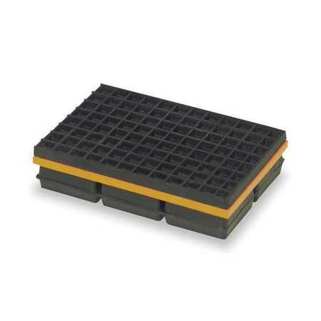 Vibration Isolation Pad, 10x10x1 1/4 In