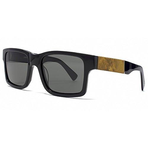 Shwood Fifty/Fifty Haystack Sunglasses - Black/Maple Burl Frame with Polarized Grey - Sunglasses Oregon Portland