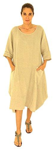 Beige Damen Plus HW500 Size de Lagenlook Tunika Mallorca Kleid Design Mein q7IPvv