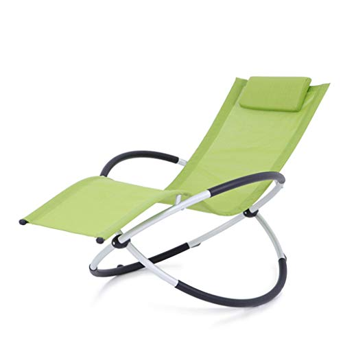 - SAN_Y Sun Loungers, Rocking Chairs, Easy Chairs, Elderly Chairs, Balcony Lunch Chairs, Lazy Chairs, Folding Chairs, Beach Chairs (Color : Green)