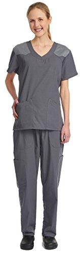 Denice / Full Set / Multiple Pockets / Nurses Scrub / Women / Medical Scrubs 1055 (Large, (Great Gatsby Daisy Dress)