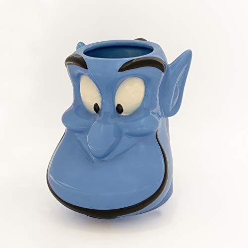 Silver Buffalo DIS3043D Disney Aladdin Genie Face Ceramic 3D Sculpted Mug, 20-Ounce 22, Blue