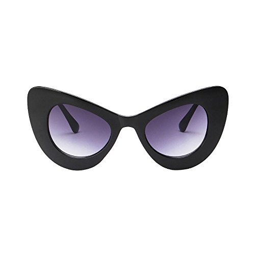 (Big Oversized Thick Gothic Vintage Sunglasses Women Classic Cat Eye Plastic Beautyfine )