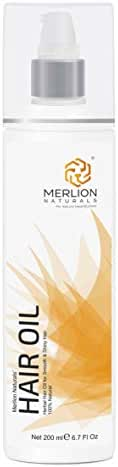 Herbal Hair Oil by Merlion Naturals | 12 Essential Herbs like Bhringraj, Amla and Brahmi | 200ml/ 6.7OZ | 100% Natural