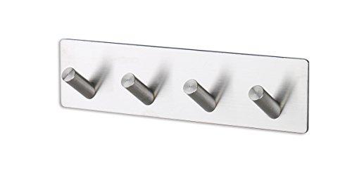 304 Stainless Steel Self Adhesive Hook Bathroom Kitchen Towel Hanger Style 4 - 9