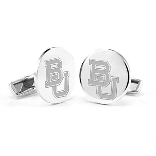 M. LA HART Baylor University Cufflinks in Sterling Silver