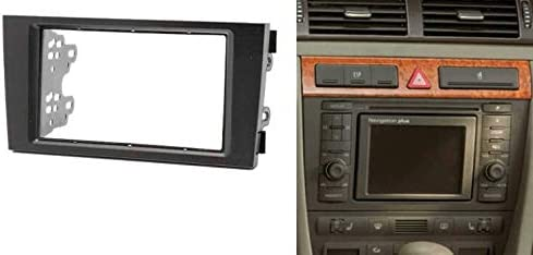 Sound-way 2 double din car stereo radio facia adapter compatible with AUDI A6 4B