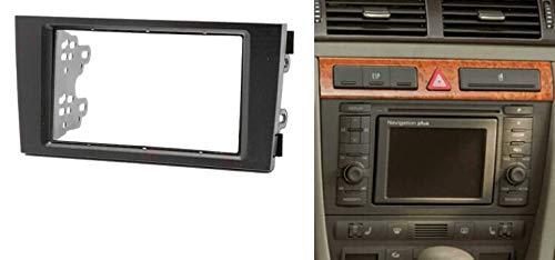 Sound-Way Kit de Montaje Marco Adaptador autoradio 2 DIN para Audi A6 B4