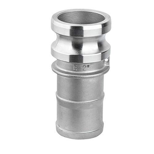 Maslin 1pc 1/2'-2' E Trash Pump Adapter Male Camlock x Hose Barb Stainless Steel - (Color: DN40)