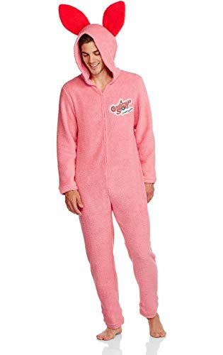 A Christmas Story Men's Pink Bunny Union Suit Pajama (Medium)]()