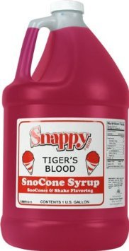 (Snappy Snow Cone Syrup - Tiger's Blood - 1 Gallon)