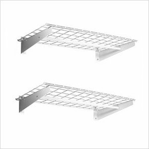 Light Duty Wall Shelf W/Clothes Rods, Set Of 2 by