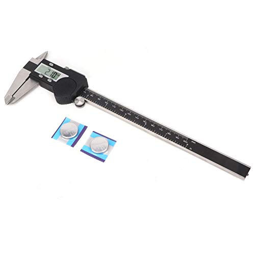 High Accuracy Vernier Caliper Electronic Digital Vernier Caliper Stainless Steel Ruler Gauge Measuring Tool (0-200mm)