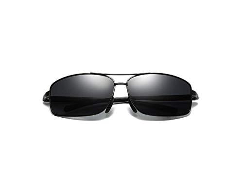 Espejo Color Uso Gafas De De Los Negro De Sol Conducción liwenjun Hoja Gafas Polarizadas De Cambio Conductor Marea Diario Sol De Marco Conducción Gris De Hombres De Gafas UXqxdw