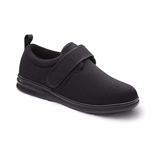 Diabetic Shoe - Dr. Comfort Men's Carter Black Stretchable Diabetic Casual Shoes