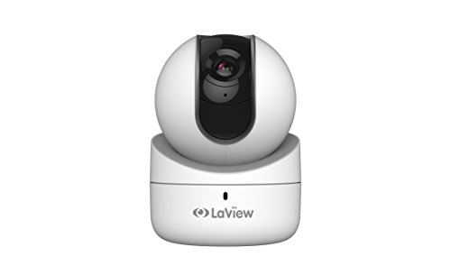 LaView 1080P Wi-Fi 360° Indoor Security Camera, Remote Pan Tilt Camera with Micro SD On-Board Storage, Two-Way Audio, Night Vision Surveillance, Motion Detection, Remote View – 16GB SD Card Included