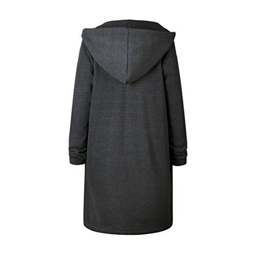 L Femmes Fermeture Sweat 5XL XL Long Ouverte S Chaudes Gris 3XL M 4XL Hoodies glissire XXL Tops Veste Manteau MEIbax Outwear gqE6dwg