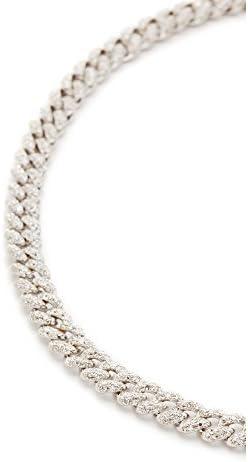 Shay Women's 18k Mini Pave Link Choker Necklace