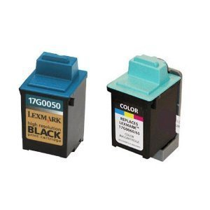 2-pack (B+C) 17G0050 17G0060 50 60 Lexmark Remanufactured ink Cartridges
