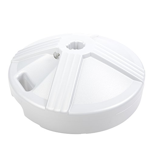 US Weight Fillable Umbrella Base, White by US Weight