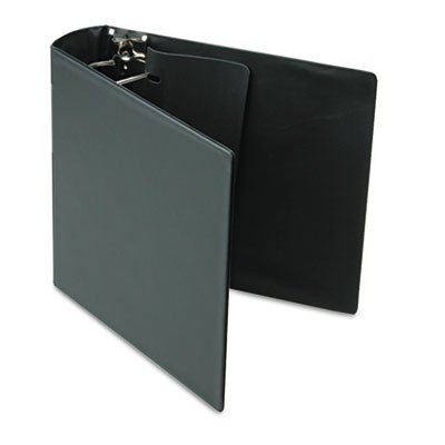 DXL Heavy-Duty Locking D-Ring Binder With Label Holder, 3'' Cap, Black, Sold as 2 Each
