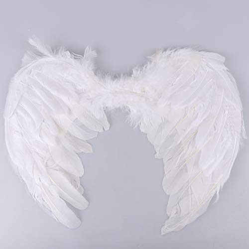 Olgaa Halloween Party CostumesAngel Feature Wings for Kids Angel Costumes for Girls BoysHalloween Christmas Cosplay (White /17.7