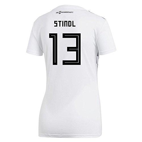 等価プロフィール販売員adidas Women's STINDL # 13 Germany Home Soccer Stadium Jersey World Cup Russia 2018 / サッカーユニフォーム ドイツ ホーム用 シュティンドル # 13 レディース向け