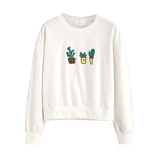 Clearance!Women Printing Cactus Print Casual Sweatshirt Pullover Casual Blouse