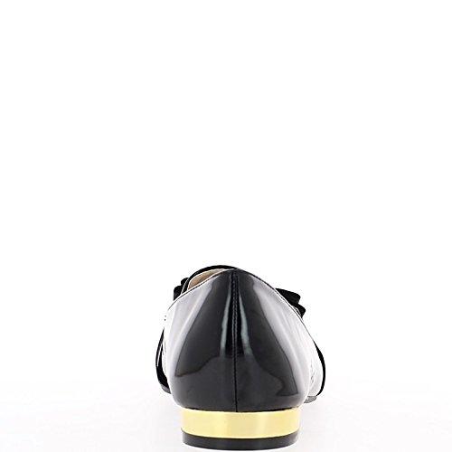 Scarpe nere con i mocassini retrò di tacchi 2cm stile