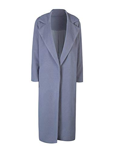 Vintage Coats & Jackets | Retro Coats and Jackets CHARLES RICHARDS CR Womens Lapel Wool Blend Longline Winter Fall Warm Coat Overcoat $49.99 AT vintagedancer.com