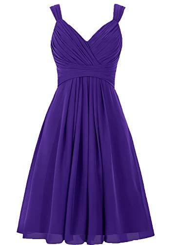 Bridesmaid Dress Short Prom Dress Chiffon Simple Party Dress for Junior Regency XL