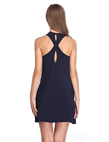 Notte da Blu da Scollo Donna Camicia Lusofie a Sexy V Vestaglia Notte Camicia qH6RP