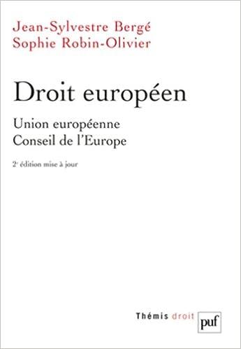 En ligne téléchargement Droit européen : Union européenne, Conseil de l'Europe pdf, epub ebook