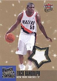 sports shoes e602d 48e20 Zach Randolph Autographed Fleer Ultra Stars Game-Used Jersey ...