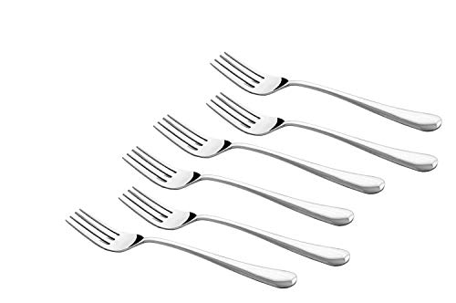 Shapes Cosmic Stainless Steel Table Forks for Home/Kitchen, Set of 6 Pcs.  20.5 cm.
