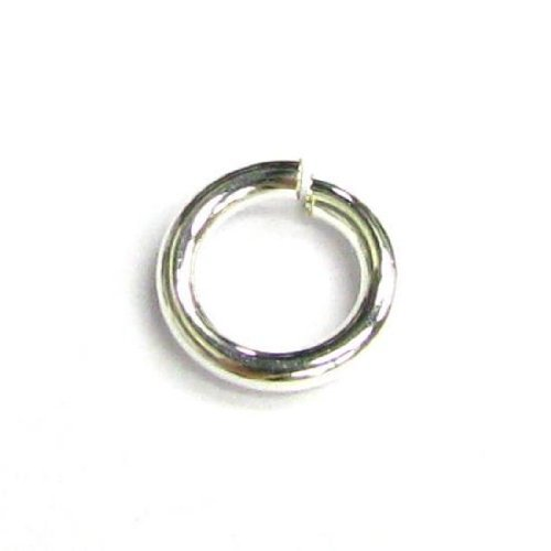 10 pcs Silver Filled .925 Round Open Jump Rings 18 Gauge Wire 8mm 18ga/Findings/Bright