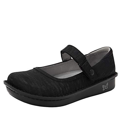 Alegria Belle Womens Mary Jane Shoe Caviar 11 M US (Alegria Wide Shoes For Women)